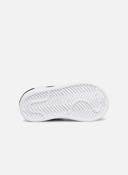 Baskets adidas originals Superstar I Blanc vue haut